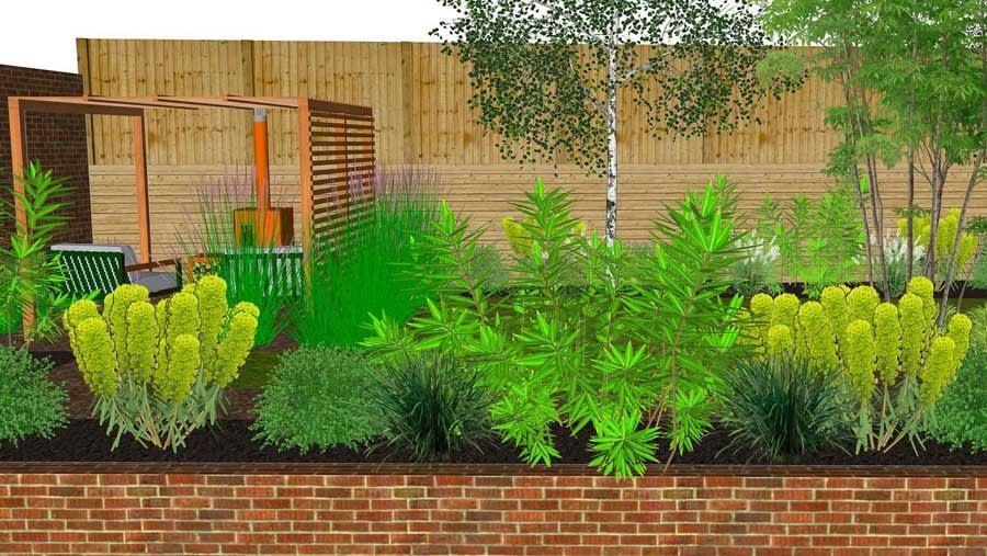 new build house garden design