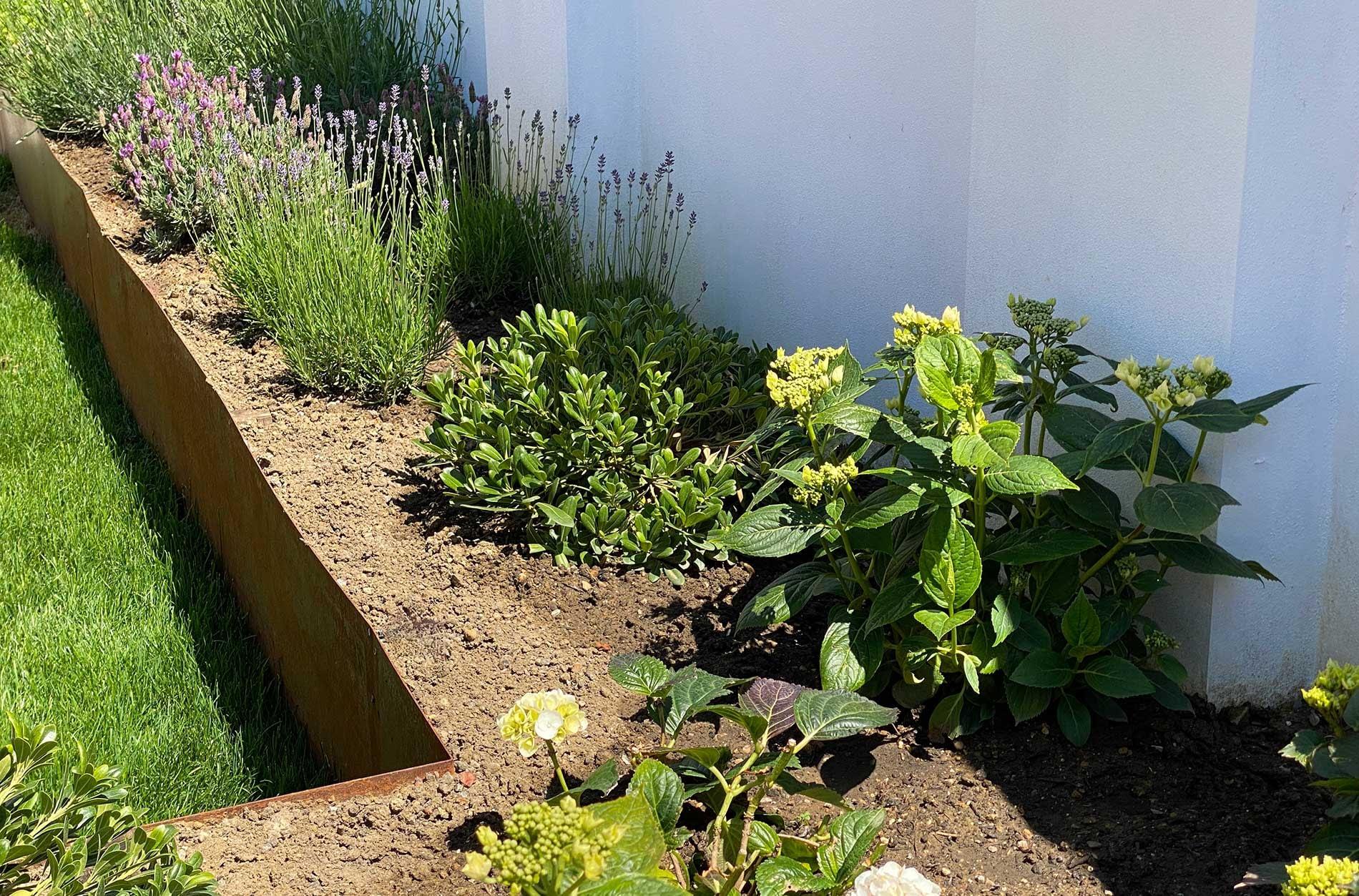 corten steel raised planter