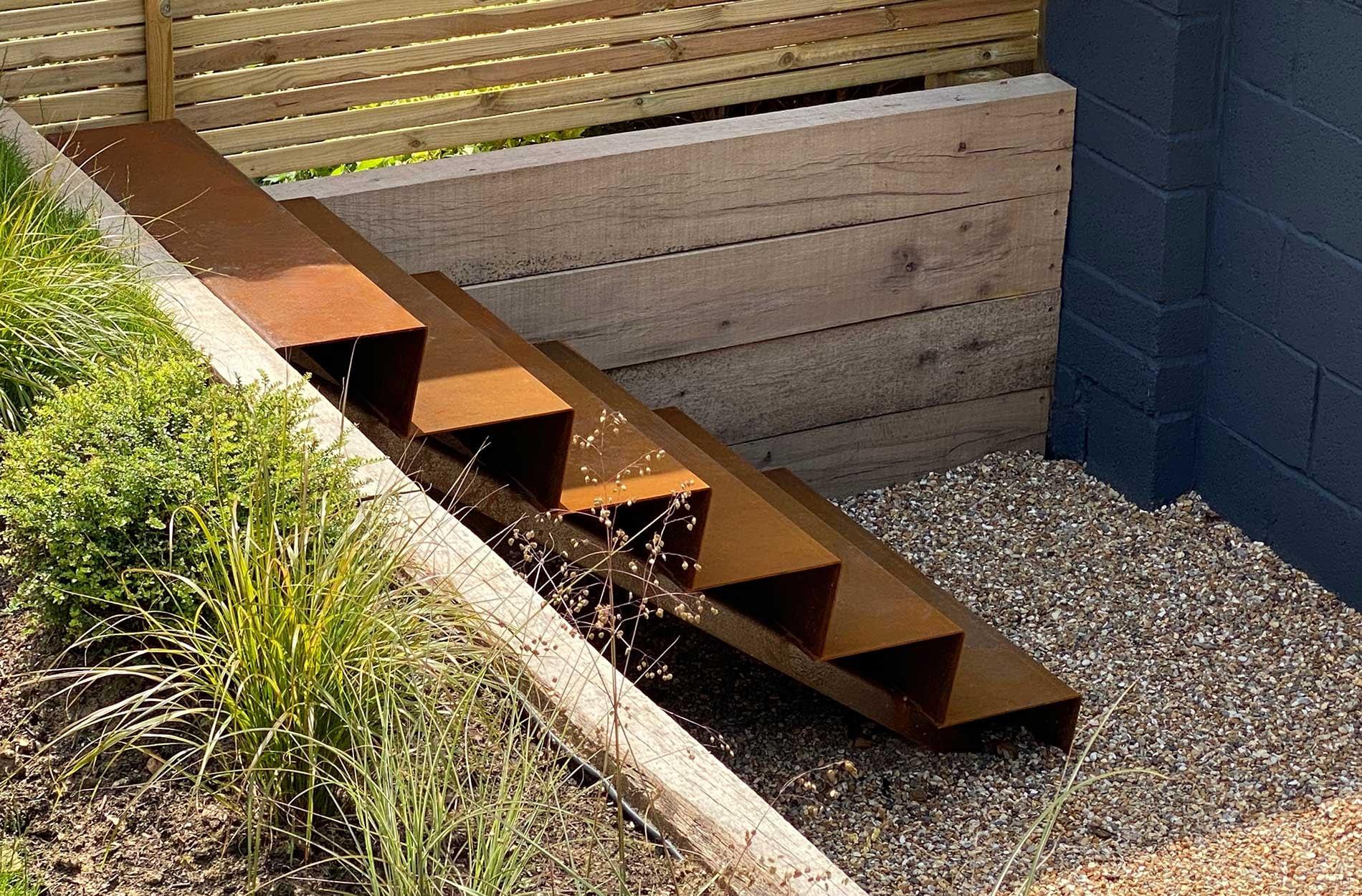 WA corten steel steps
