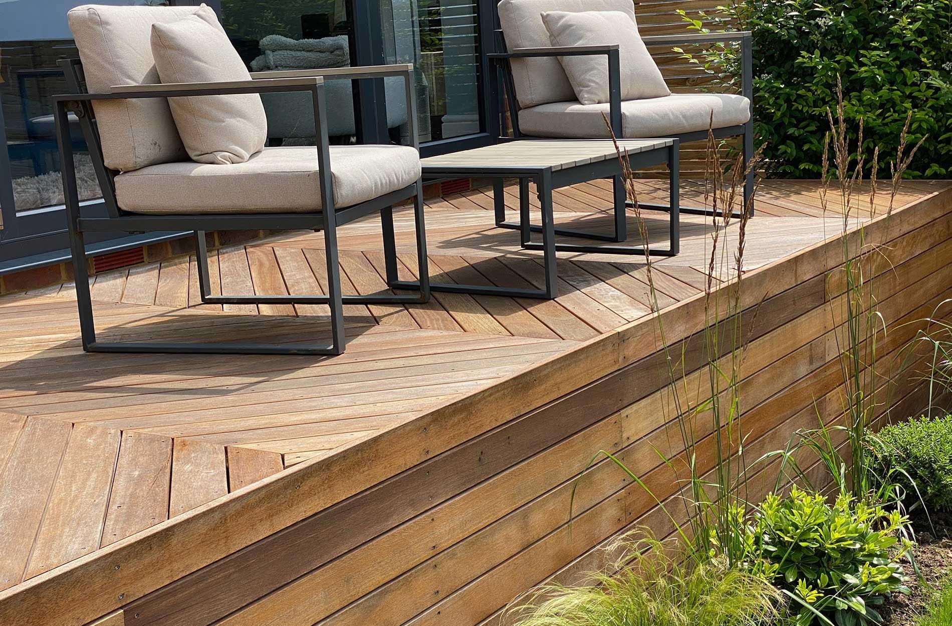 WA chevron deck design