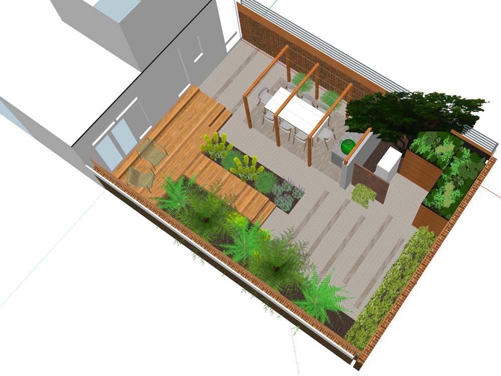 hove garden design brighton plan